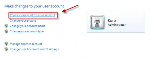 Cách đặt mật khẩu cho máy tính win 7 2