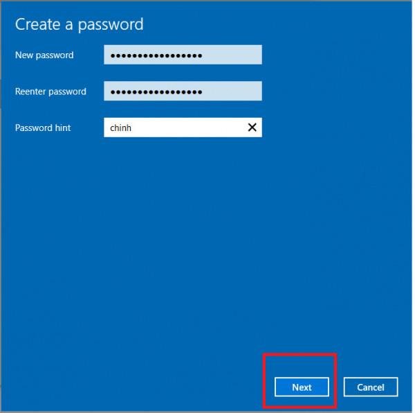 Cách đặt mật khẩu cho máy tính win 10