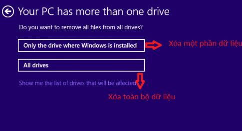 Cách reset máy tính win 8
