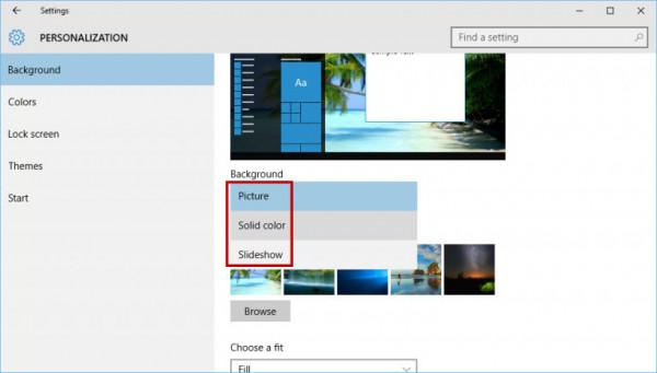 Cách thay đổi hình nền máy tính win 10