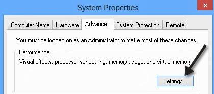 Tăng tốc máy tính win 8