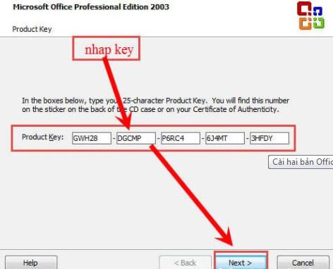Cài song song Ofice 2003 và Office 2010