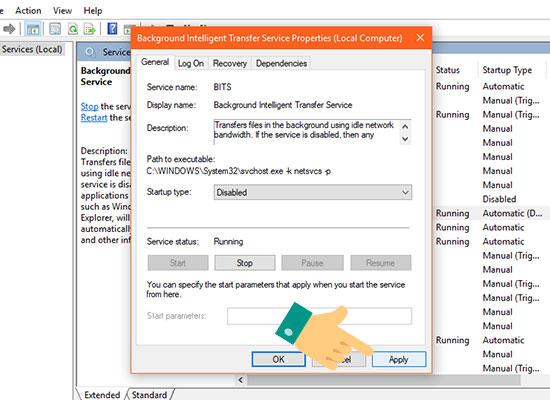 Sửa lỗi Full disk win 10