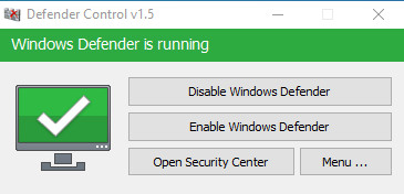 Tắt windows Defender win 10